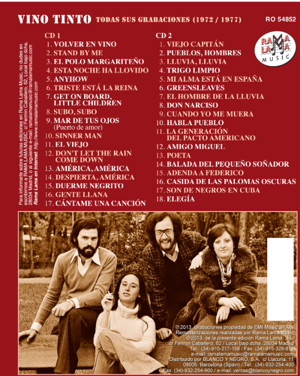 Grupo musical Vino Tinto CD