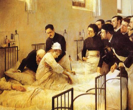 cuadro visita al hospital